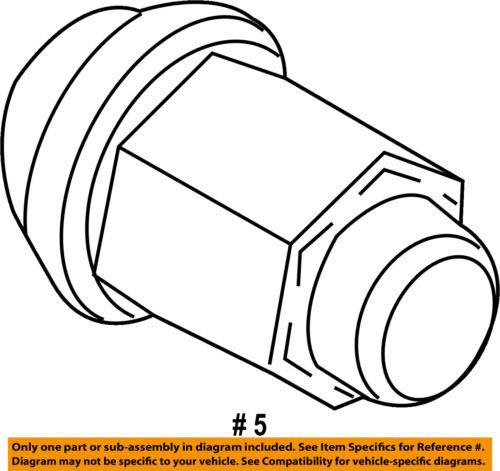 FORD OEM 11-16 Explorer Wheel-Lug Nut 8G1Z1012A
