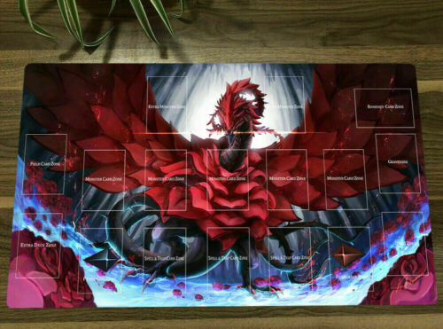 Playmat Black Rose Dragon CCG TCG OCG Trading Card Game Mat /& Bag HOT Yu-Gi-Oh