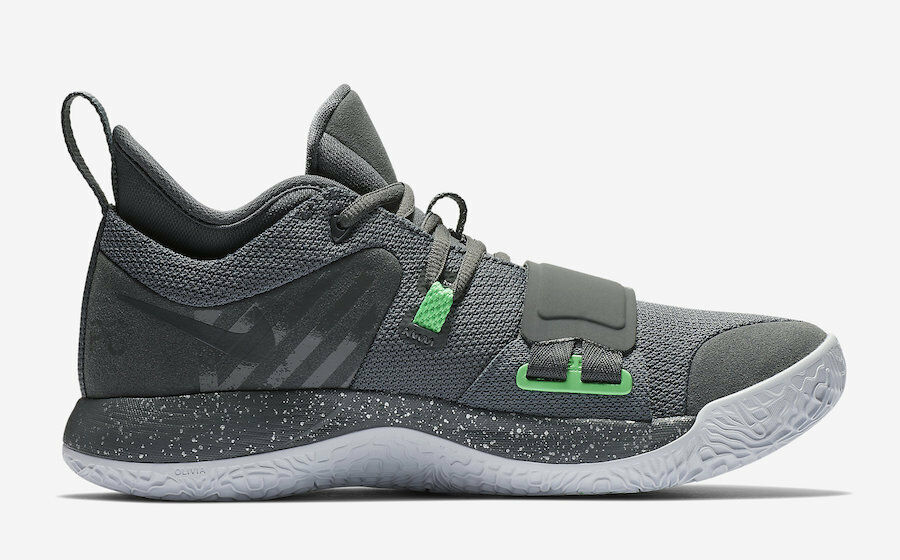 {BQ8452-007} Men's Nike PG 2.5 Grey Green NEW