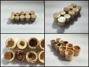 Japanese-Bone-Hanging-Scroll-Roller-End-Vtg-Jikusaki-10pc-Junk-Beige-R149