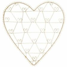 Vintage Style White Wire Heart Memo Card Photo Holder