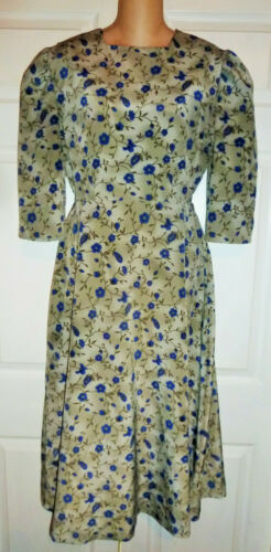Amish Mennonite Handmade Floral Cape Dress Modest