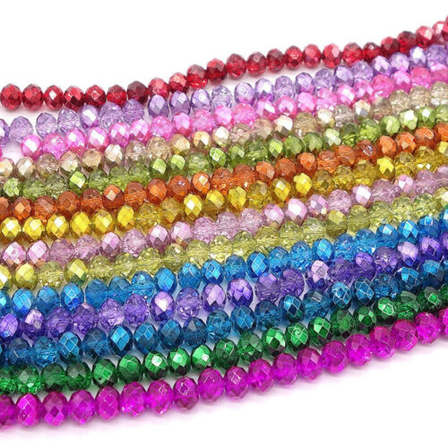 50//100Pcs verre de cristal à facettes Blotter Loose Spacer Beads À faire soi-même Jewelry Making