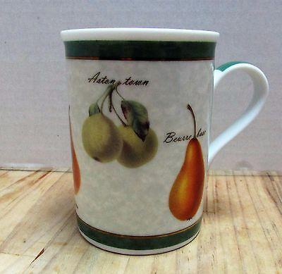 Beautiful Pear Coffee Mug Tea Cup Porcelain Gold Trim Beurre Bosc Greenbrier Inc