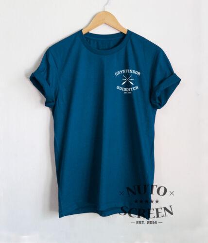 Gryffindor Quidditch Shirt Team Seeker T-Shirt Pocket Print Inspired Gift Tees