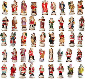 Lot-of-10-Memories-of-Santa-Collection-Ornament-Figurines-New-In-Box-Don-Warning