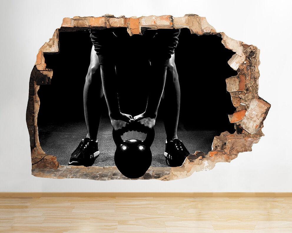 Q818 Poids Santé Gym Exercice Smashed mur  Autocollant Chambre 3D Vinyle enfants