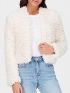 Cozy Faux 14 Womens Billabong Keeps Cap Large New White Jacket Womens Fur 12 7q4cwCP