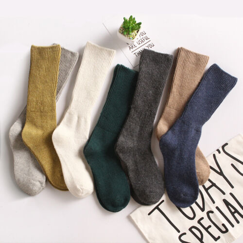 Women 90/%Cashmere Wool High Solid Thick Winter Warm Soft Comfort Boot Socks
