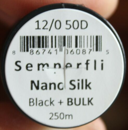 Fly Tying Semperfli Nano Silk 50D Bulk Spool 250m Black