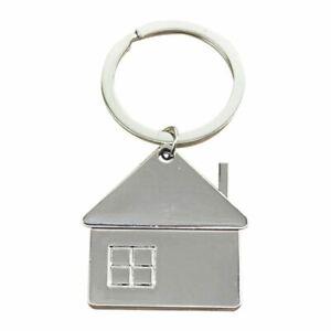 House-Home-Keyring-metal-Pendant-Keyfob-Chrome-Key-Bag-Chain-Wedding-Gift-N-T7N2