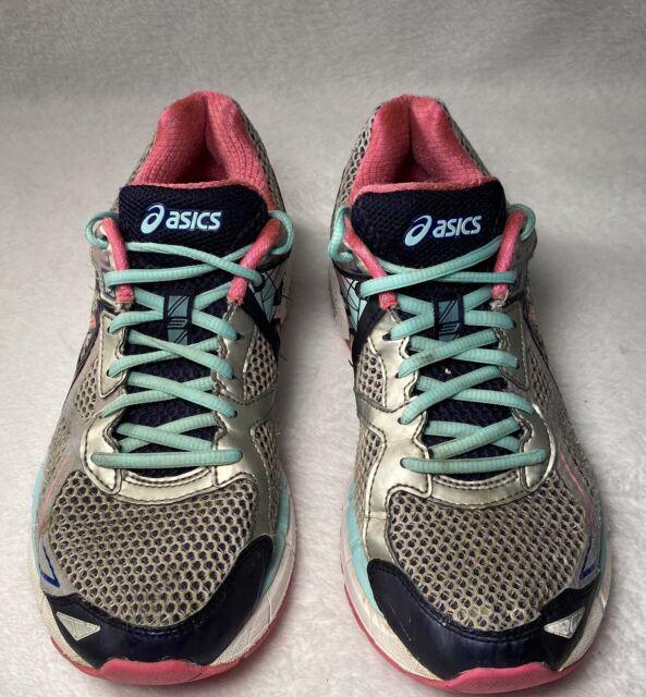ASICS IGS Gel F821215 Women's Distance Running Shoes Silver Aqua ...