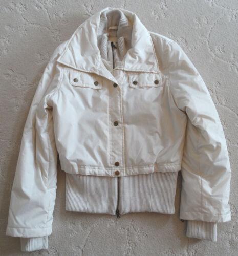 Størrelse Jacket M Hvid Outerware Bomber Blek Tahari Creme qx0qXY64