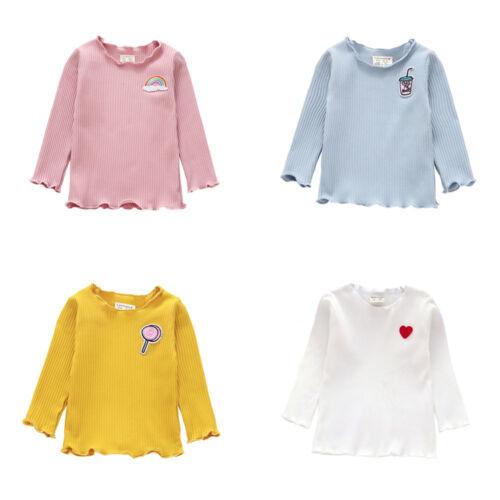 Toddler Kids Girl Long Sleeve T-shirt Tops Autumn Winter Blouse Pullovers XIU