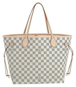 Louis Vuitton Neverfull MM Damier Azur Canvas Beige for sale online ... 631296932d58e