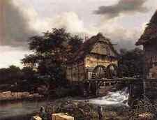 Metal Sign Ruisdael Jacob Isaackszon Van Two Water Mills And Open Sluice A4 12x8