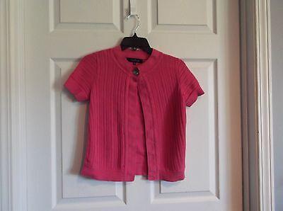 Panties High Safety Impartial Euc Evan-picone Women's Petite Medium Rose Color Short Sleeve 1 Button Sweater
