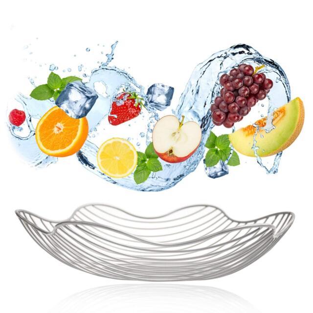 Kitchen Basket Collecting Fruit Vegetable Food Dish Storage Metal Rack Organizer