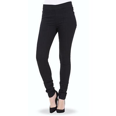 Ladies Pull On Jeggings Womens Slim Fit Skinny Stretch Leggings