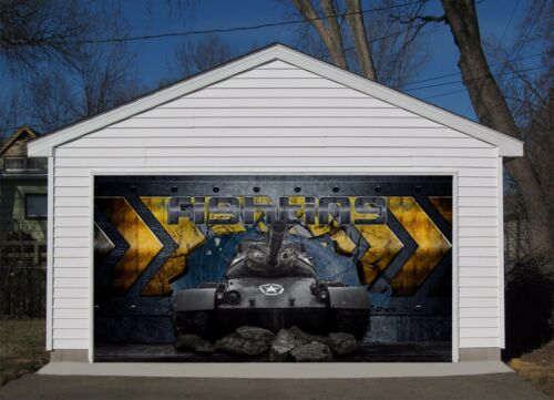3D Black Racing 7 Garage Door Murals Wall Print Decal Wall AJ WALLPAPER AU Carly
