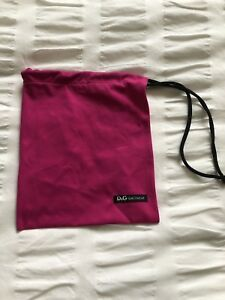 "sneakers for cheap 4b424 a8914 Details about Dolce & Gabbana D&G Beachwear Hot Pink Logo Bag With  Drawstring 7.5"" X 9"""