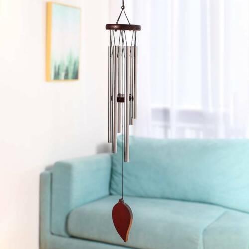 Christmas Gifts Redwood Windchimes 6 Metal Tubes Modern Wind Bells Ornament W