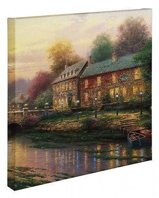 Thomas Kinkade Wrap Lamplight Lane 20 x 20 Wrapped Canvas