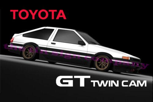 workshopop etc. Super cadeau pour toute voiture GUY TOYOTA COROLLA GT TWIN CAM SIGNE