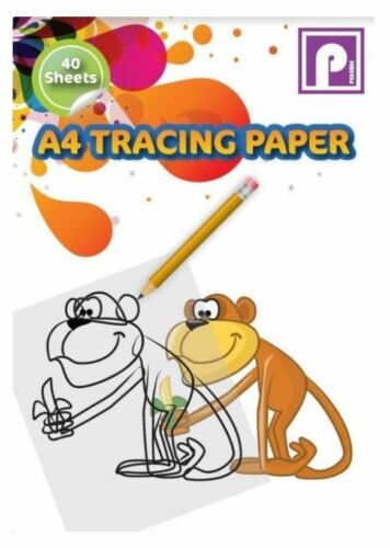 A4 TRACING PAPER Pad Drafting Paper 40 Sheets Ideal for Home School Children