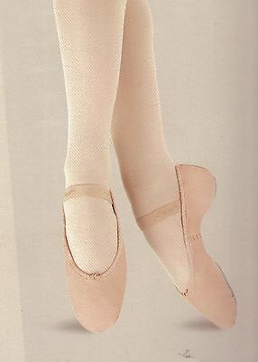 White Leather Full Sole Ballet Shoes #3540  dance RUN SMALL read description!