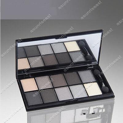 New 10  Color Eyeshadow Cosmetic Makeup Palette & Brush Mirror Set #4
