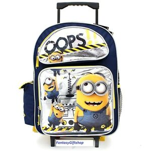 Details about Despicable Me 2 Minion School Roller Backpack Large Rolling  Bag - 16