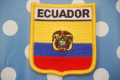 Ecuador Aufnäher Aufbügler Wappen Patch  Flagge