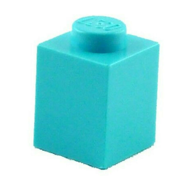 Lego 50x Stone 1x1 Azur Blue Basic Stone (3005) New Medium Azure Brick