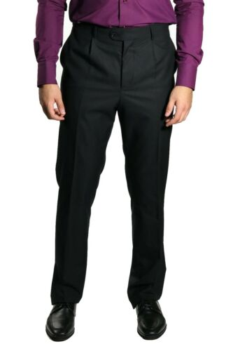 Pantaloni neri a Gr classici uomo da 32 pieghe UxUT8rq