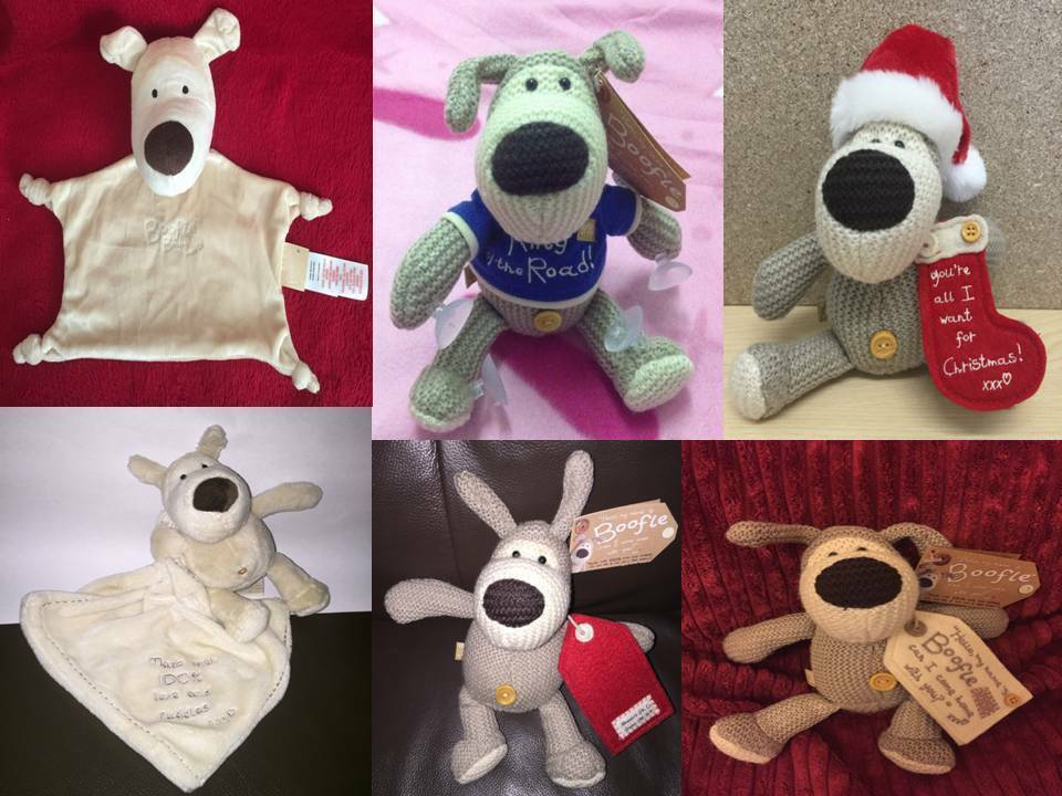 Various Boofle the Dog Soft Toy & Baby Comforter