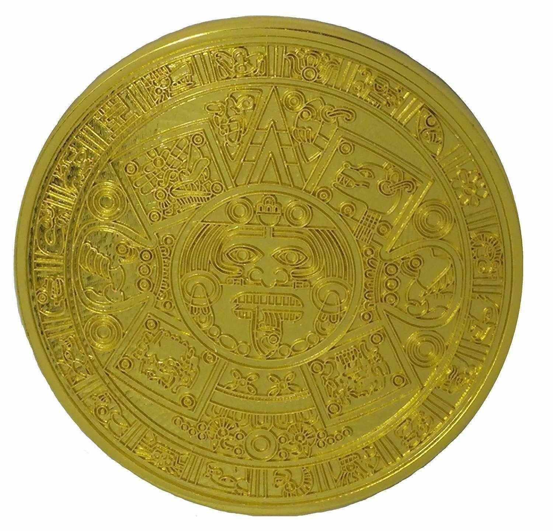Azteken Kalender Gürtelschnalle Maya Damen Indian Mexikanisch Calendario Azteca