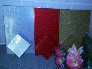630057b626b4 Image is loading Glitter-Christmas-Xmas-Red-Silver-Gold-Black-Placemats-