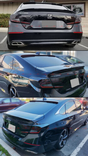 REAR WINDOW ROOF SPOILER FOR 2018-19 HONDA ACCORD AKASAKA GLOSS BLK TRUNK LID
