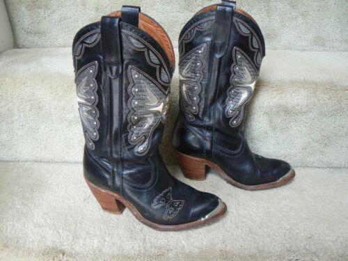 Miss Capezio Butterfly Cowboy Boots Vintage; 6.5 M