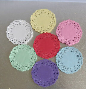 Paper-Lace-Doilies-3-5-034-4-5-034-5-5-034-upto-12-034-Colour-Wedding-Craft-Scrapbooking-Cake