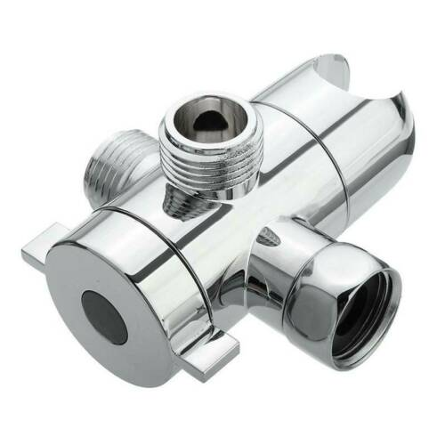 3 Way Bathroom Chrome Diverter T adapter Adapters Valve for Shower useable