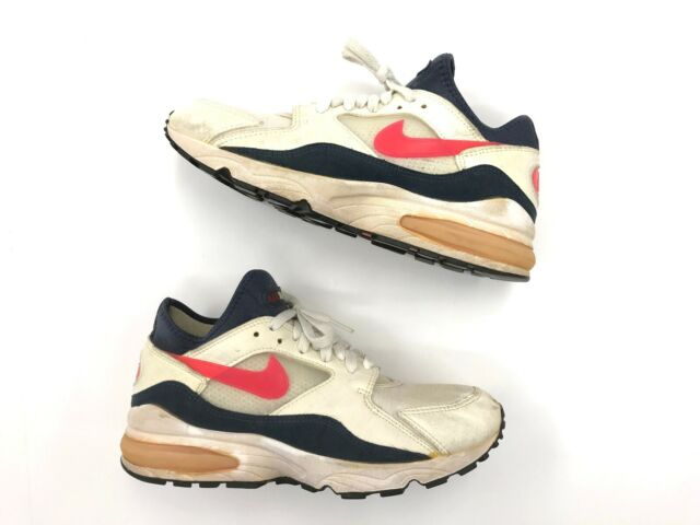 Vintage 1993 Original Men Nike Air Max 93 White Flame Red size 11 am 193578