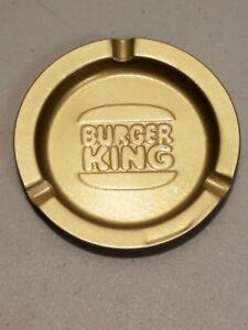 Vintage BURGER KING Fast Food Restaurant Metal Advertising Ashtray