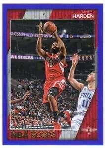 2016-17-Panini-NBA-Hoops-Basketball-Blue-Parallel-116-James-Harden-Rockets