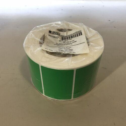 "Brady THT B423 GRN 3/"" 2,500 Roll Polyester Harsh Environment Labels Green NOS"