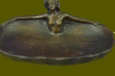Art Déco Erotik Kunst Von Rubin Schmuck Münzen Halter Bronze Skulptur Statue