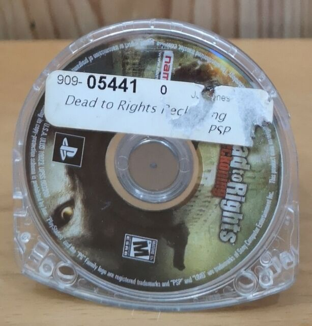Dead to Rights Reckoning (Sony PSP, 2005, Namco) *Disk Only M