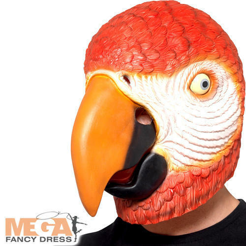 Parrot Mask Adults Fancy Dress Animal Pirate Bird Tropical Costume Accessory New
