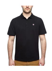 NEW-Fila-Men-s-Short-Sleeve-Polo-Shirt-Black-Size-Large